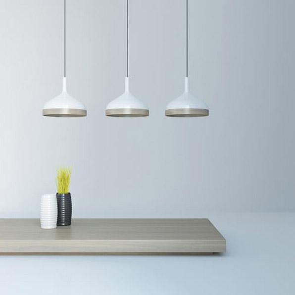 3 suspensions en porcelaine plera. Black Bedroom Furniture Sets. Home Design Ideas
