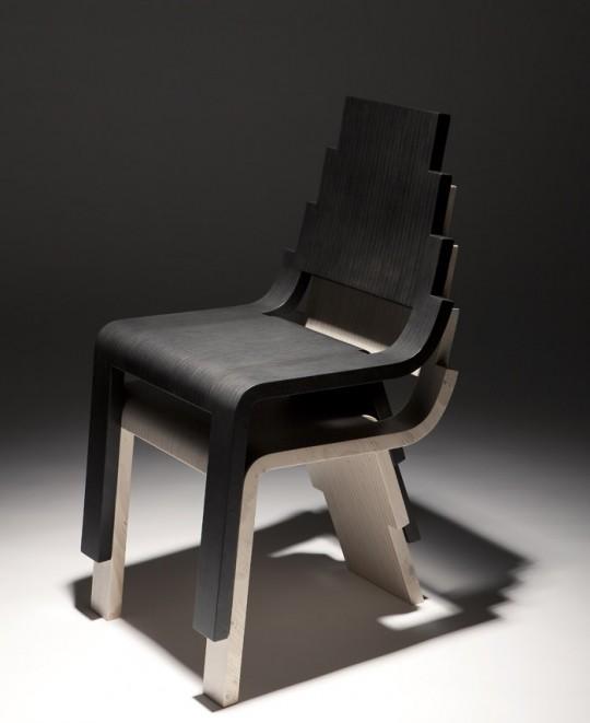 Chaise en bois empilable Maya