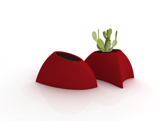 Pot de fleur design rouge Myyour Tao
