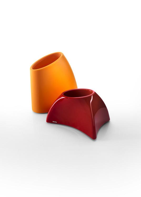 Pot de fleur design rouge et orange Myyour