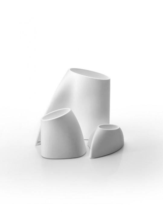 Pot de fleurs design blanc Myyour