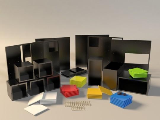 Table basse cubique modulaire Kub+