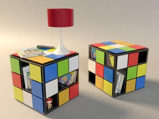 Table basse inspirée du Rubik's cube Kub+