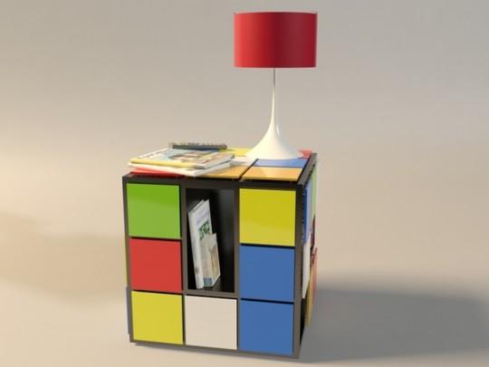 Table basse en forme de Rubik's cube Kub+
