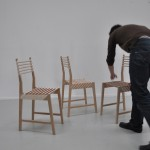 3 chaises empilables Triplette chair