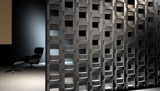 Cloison décorative originale en 3D Buildingblocks