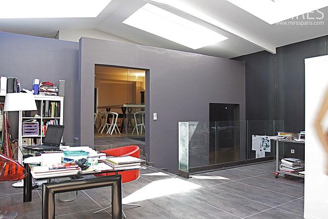agence architecte int rieur gris anthracite du loft. Black Bedroom Furniture Sets. Home Design Ideas