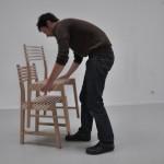 Chaise en bois empilable Triplette chair