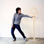 Flat light DMO - lampadaire en bois design