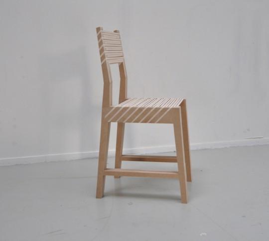 Triplette chair par Paul Menand