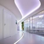 Bureaux IBM à Rome - couloir courbe