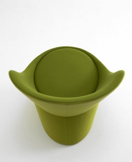 Didi chair, fauteuil design rond et vert
