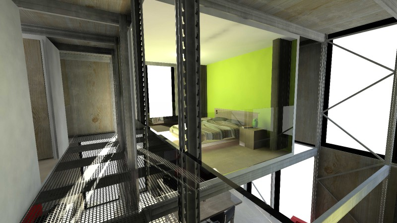 ecube la maison green monter en kit. Black Bedroom Furniture Sets. Home Design Ideas
