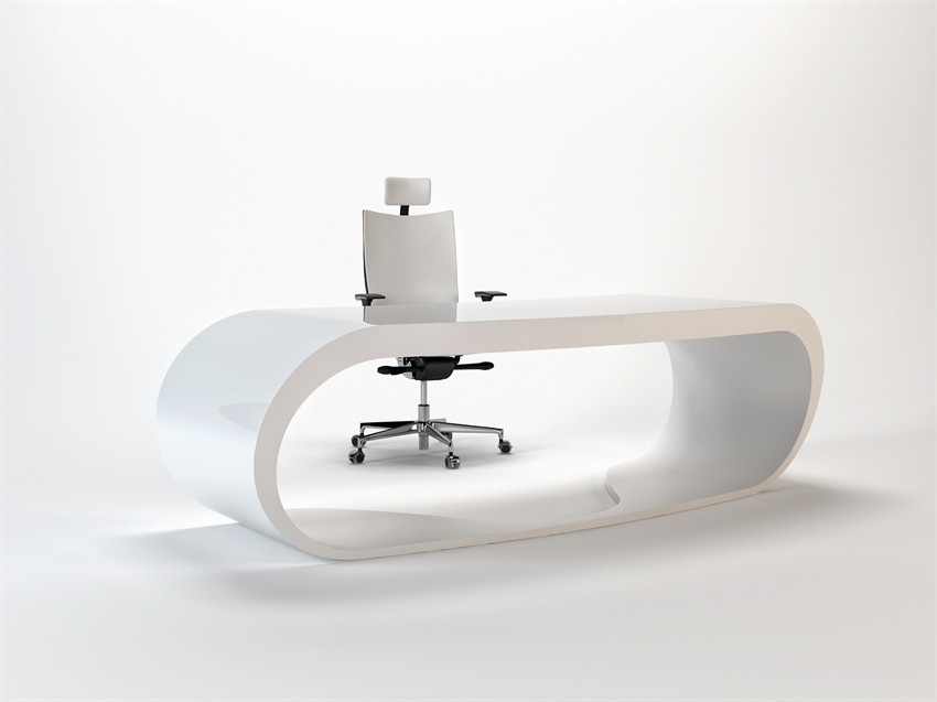 Goggle desk bureau blanc moderne - Bureau moderne blanc ...