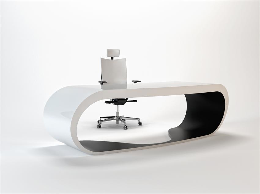 Goggle desk bureau noir et blanc épuré