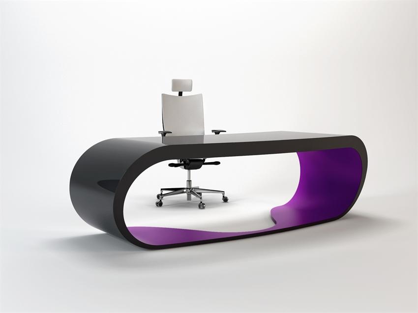 goggle desk bureau design noir et violet. Black Bedroom Furniture Sets. Home Design Ideas