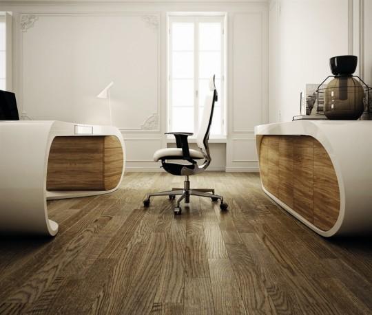 Google desk bureau blanc en bois