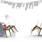 Lean - chaise étendoir à linge