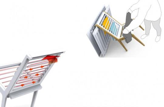 lean chaise pour tendre le linge. Black Bedroom Furniture Sets. Home Design Ideas