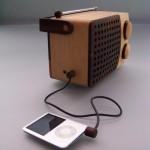 Radio en bois lecteur mp3