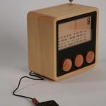 Radio en bois vintage lecteur mp3