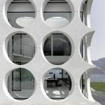 Fenêtres rondes de la villa O house