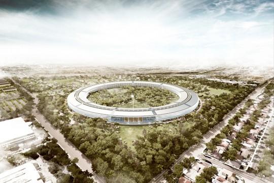 Apple campus - photo des futurs bureaux de Steve Jobs