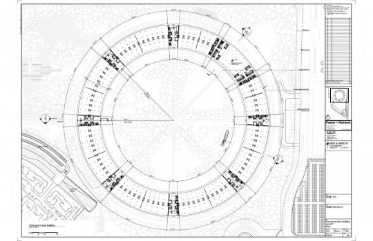 Plan du campus circulaire Apple - projet 2015