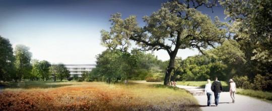 Le futur campus Apple en pleine nature