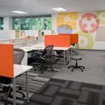 Vue de la version Open Space des nouveaux bureaux Ebay