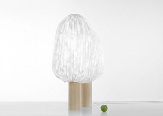Croquis de designer - lampe forêt illuminée