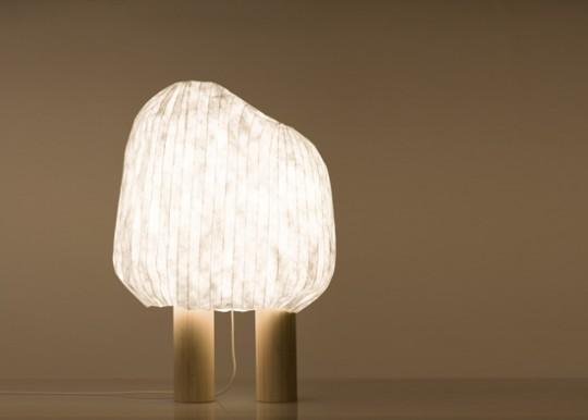 Lampe à poser Forêt illuminée