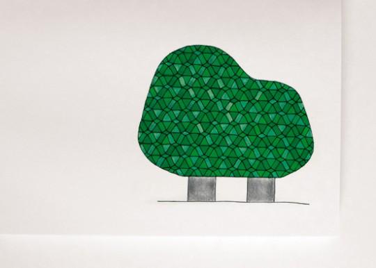 Dessin de Ionna Vautrin - Lampe forêt illuminée