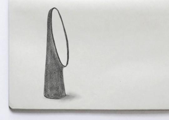 Miroir oeil de sorcière, croquis de Ionna Vautrin