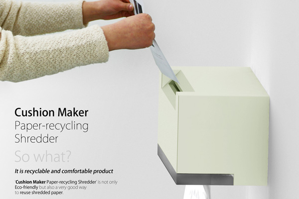 fabriquer des coussins avec du papier recyclé