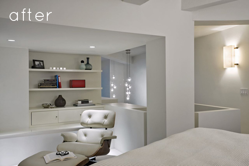Chambre design après rénovation par un architecte d'intérieur