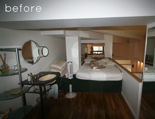 Avant rénovation de la chambre