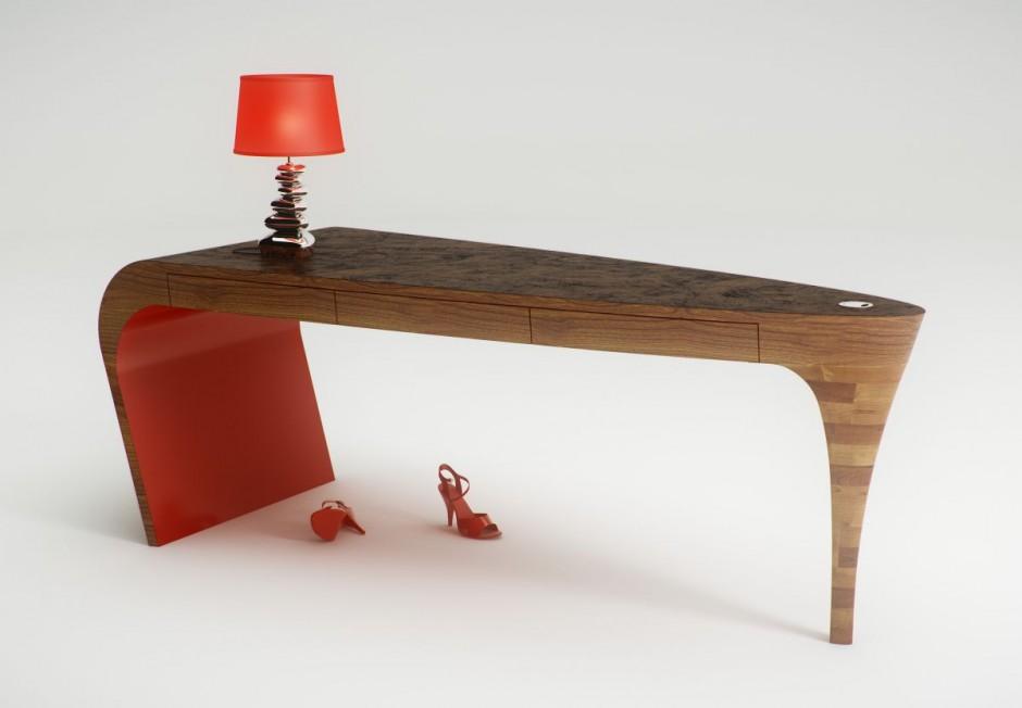 Stiletto desk, le bureau en talon aiguille