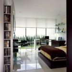 M house : chambre avec bureau