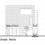 M house : plan de la façade nord