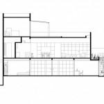 M house : plan vue latérale de la villa