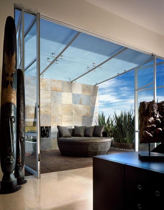 M house : la chambre avec une terrasse