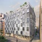 Façade rue de la résidence n°15 (Paris 15ème)