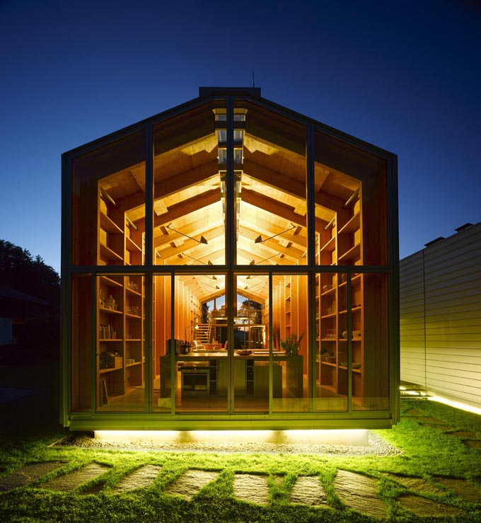 Nobis house une maison en bois esprit hangar bateau - Maison hangar ...
