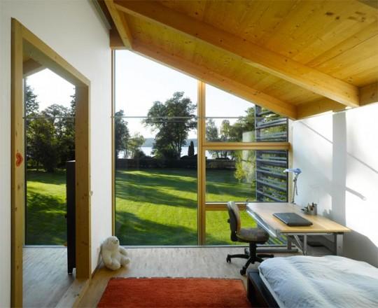 Nobis, maison en bois : chambre sous pente