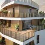Résidence Naos : bâtiment à angle ouvert