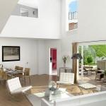 Résidence Naos : intérieur d'un appartement esprit loft
