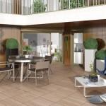 Résidence Naos : terrasse en bois