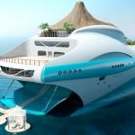 Yatch de luxe futuriste : Tropical Island Paradise