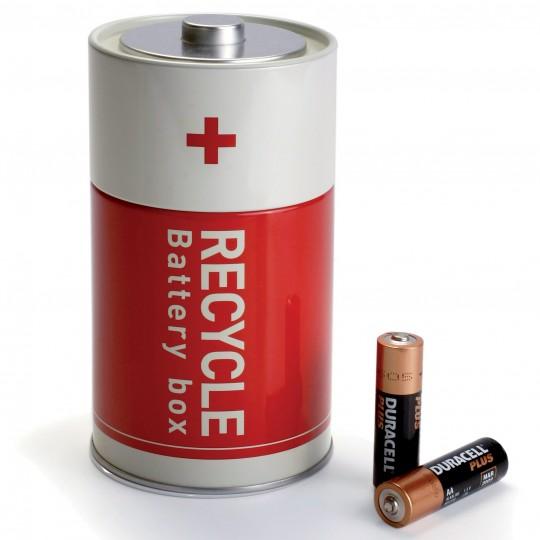Battery box, la boite à piles en forme de pile